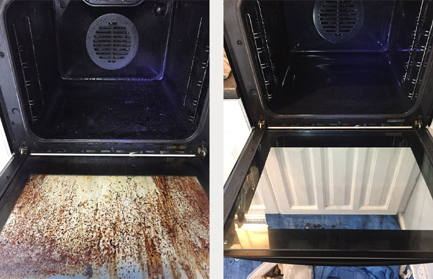 Before and After Oven clean South Ashford