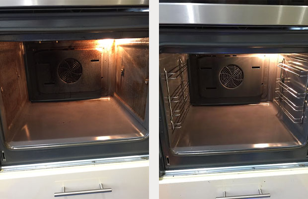 Double neff oven in New Romney Before and After Cleaning