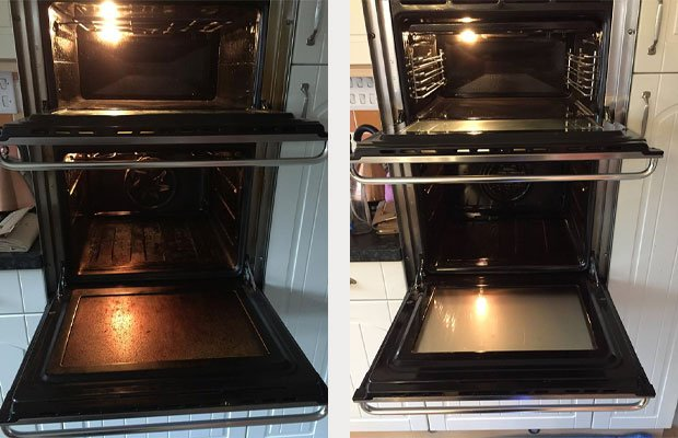 Before and After Oven Clean Hythe